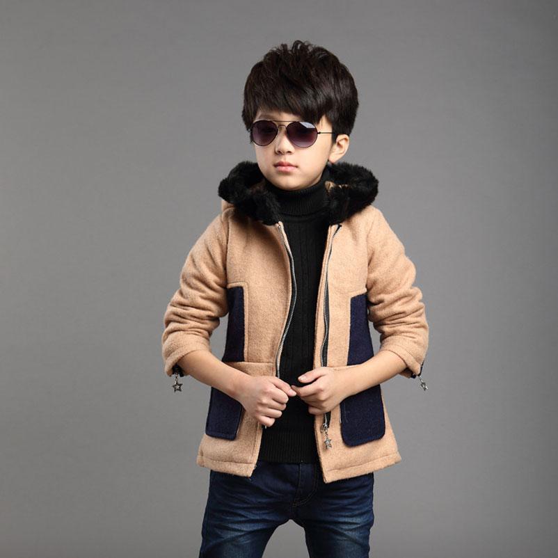 Childrens Fur Collar Keep Warm Coat Boys Fashion Thick Jacket Children Outwear Kids Hoodie coat<br><br>Aliexpress