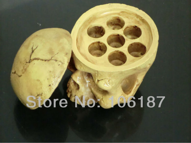 5Pcs Skull Type Hard Resin Tattoo Ink Cup/caps Holder tattoo accessories  For Tattoo Ink Cups Supply<br>