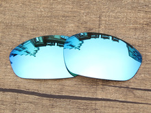 Polycarbonate-Ice Blue Mirror Replacement Lenses For Straight Jacket 2007 Sunglasses Frame 100% UVA & UVB Protection