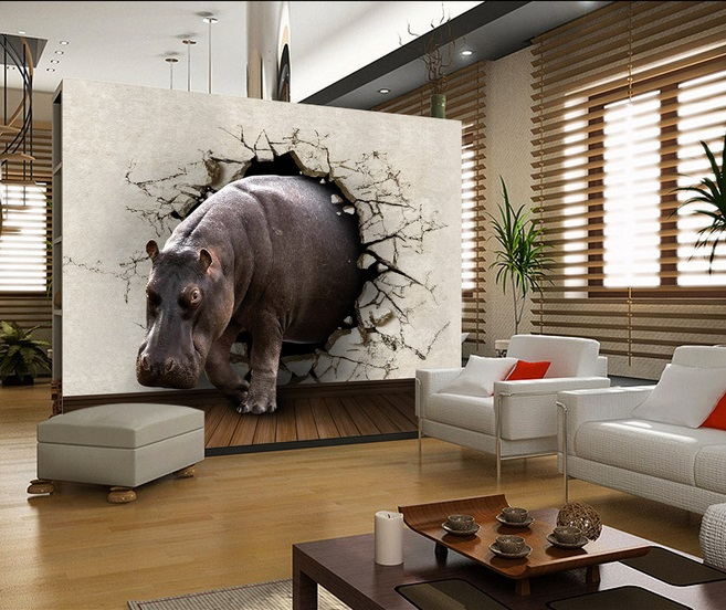 Living room murals