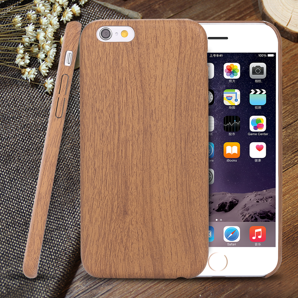 Wood Bamboo Pattern Leather PU Cases For Iphone 6 6s 4.7 / Plus 5.5 Case Cover Ultra Thin Retro Accessories Capa For iphon 6 s(China (Mainland))