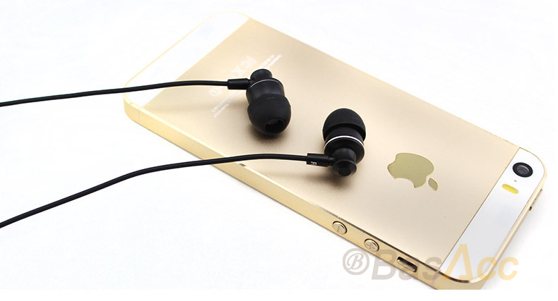Langstom Stereo HIFI  In Ear  3.5mm Built-in Microphone MP3 Earbuds Earphone for iPhone Samsung etc