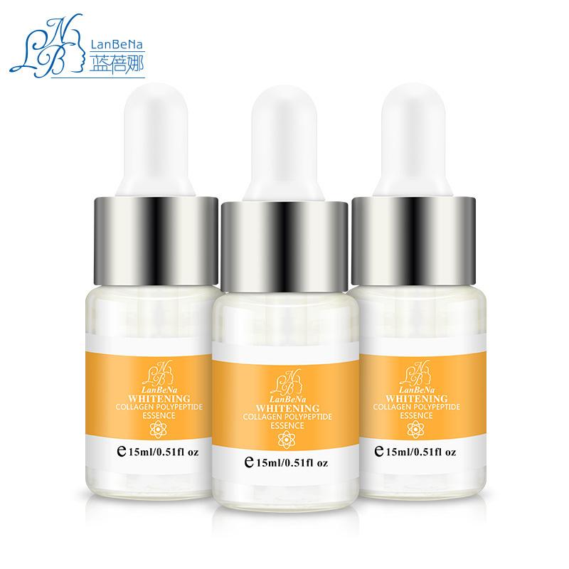 LANBENA Collagen Peptide Ageless Essence Skin Care Ageless Beauty product Anti Wrinkle Moisturizing Whitening Cream 3PCS(China (Mainland))