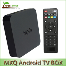 Android TV Box Origina MXQ l Amlogic S805 Quad Core XBMC TV Box  Android 4.4 H.265 Support Wifi LAN Miracast Airplay 1G 8G DLNA