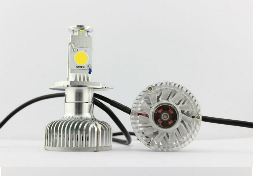 Car Parts DC12V-18V 60W 4000Lm H4 H/L High/Low Beam LEDs Headlight Lamp 6000K CREE 1512 Bulbs Auto Truck - FUNTASY store