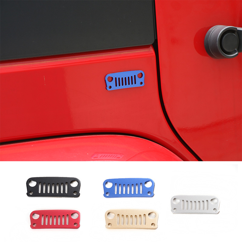 New Designs 3D Aluminium Stickers Birds Racing Grills Stickers 5 Colors for JEEP(China (Mainland))