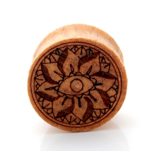 1pair Stay Organic Elegant Flower plugs and tunnels helix earring fashion Lotus Ear Plugs Wood Ear Plugs body piercing jewelry(China (Mainland))