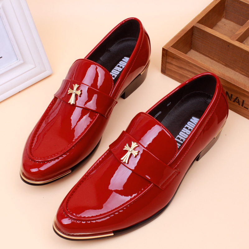 Red leather dress shoes wedding dress for Red dress shoes for wedding