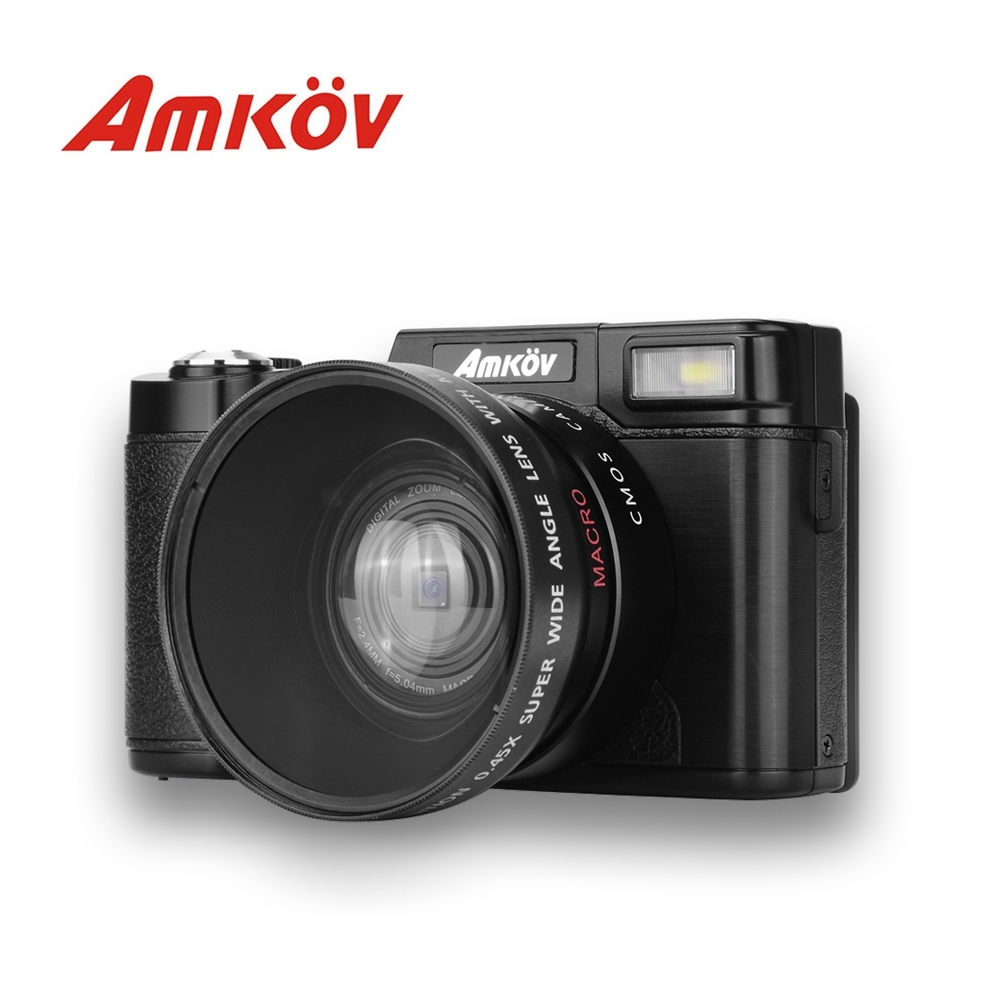 Original AMKOV CDR2 Digital Camera Video Camcorder 800W Pixel 3 inch TFT Screen with UV Filter 0.45X Super Wide Angle Lens(China (Mainland))