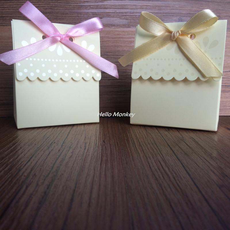 1pc Cream Milk House Wedding Favor Boxes Candy Boxes Paper