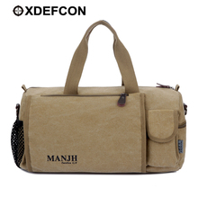 New Outdoor Travel Hiking Trekking Travelling bag Canvas Vintage Black Rolling luggage Bag School Sport Rolling Duffle Bag