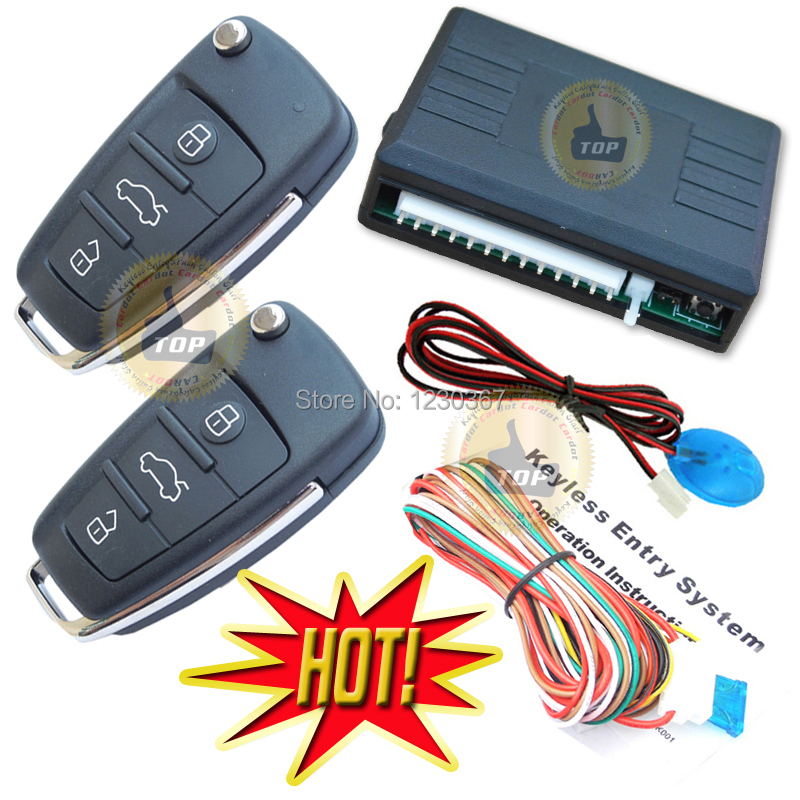 flip key remote keyless entry system remote central  lock or unlock car door auto window up output CE passed(China (Mainland))