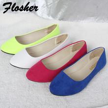 20 colori disponibili 2016 moda scarpe morbide per le donne femminili scarpe basse punta rotonda quotidiano casual scarpe plus size FB0048(China (Mainland))