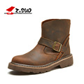 Real Genuine Leather Suede Men Military Work Ankle Boots For Men's Brand Designer Combat Motorcycle Stylish Outdoor Shoes 2016