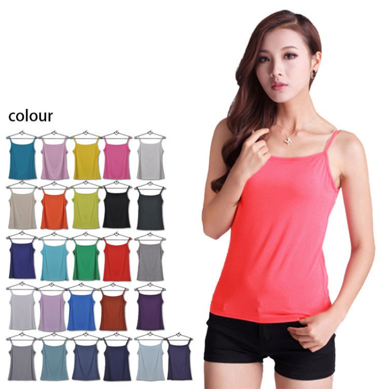 Solid Color Women Summer Tank Tops Ladies Sleeveless Basic T Shirt Vest Tops