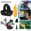 Action Camera Accessories Tripod Floaty bobber Head Strap Suction Cup For Xiaomi 4 K eken h9