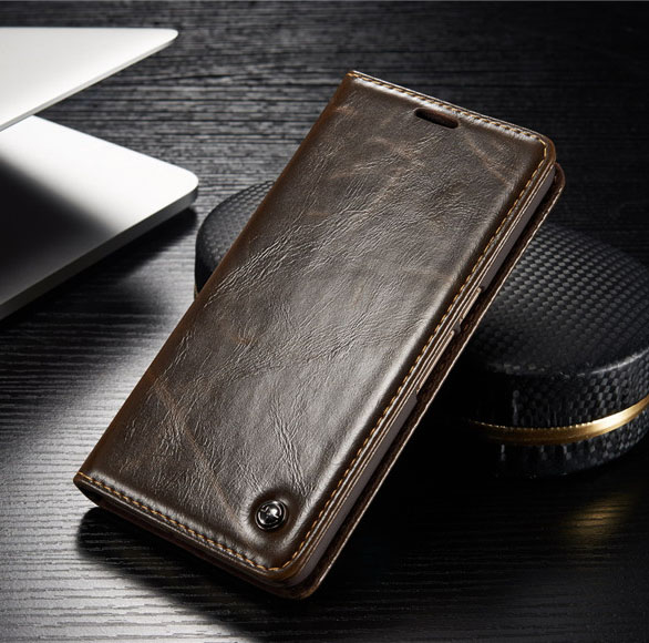 Original CaseMe Brand Genuine Leather Case for Huawei Nexus 6P With Card Slots Magnetic Auto Flip Cover for Google Nexus 6P(China (Mainland))
