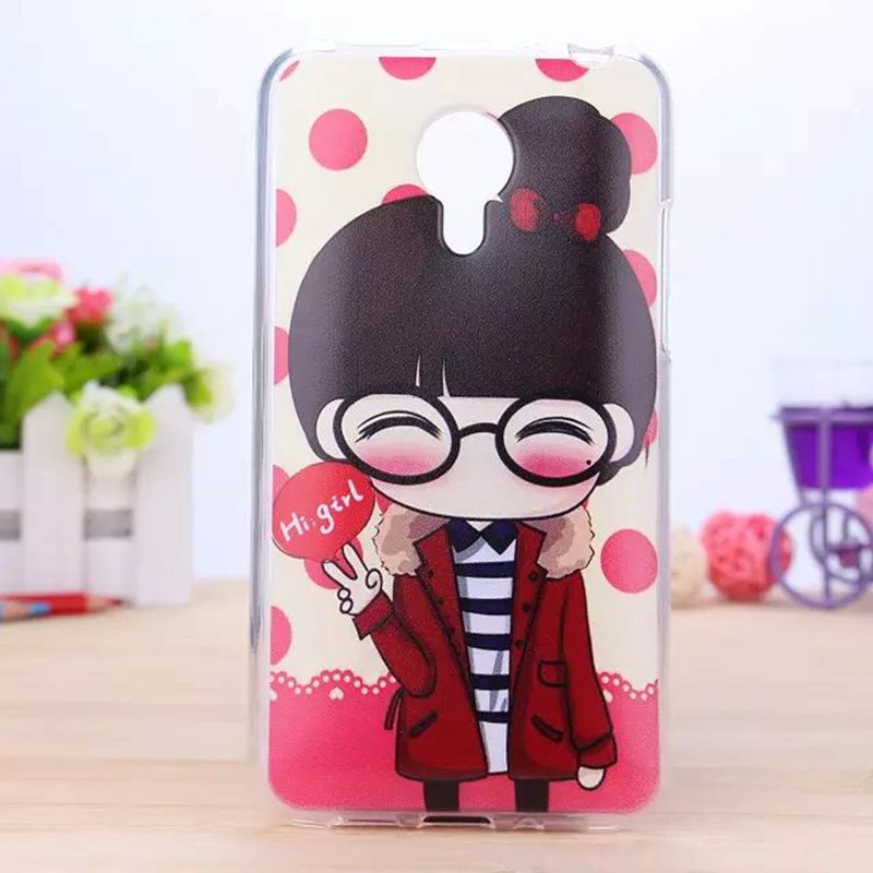 Soft Phone Case For Meizu MX4 Cartoon Cute Girls Boy Hello Kitty Doraemon Floral Butterfly Tower Pattern Back Cover New 2016(China (Mainland))