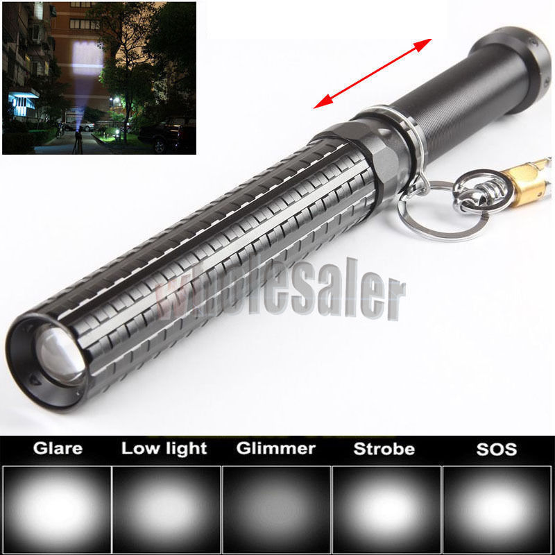 Free Shipping 2500LM Tactical Zoomable CREE XM-L T6 LED Flashlight Zoom Torch XM111(China (Mainland))