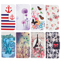 Owl Eiffel Tower Dandelion Painted Style PU Leather Phone Cases Coque For HTC One M8 Cover