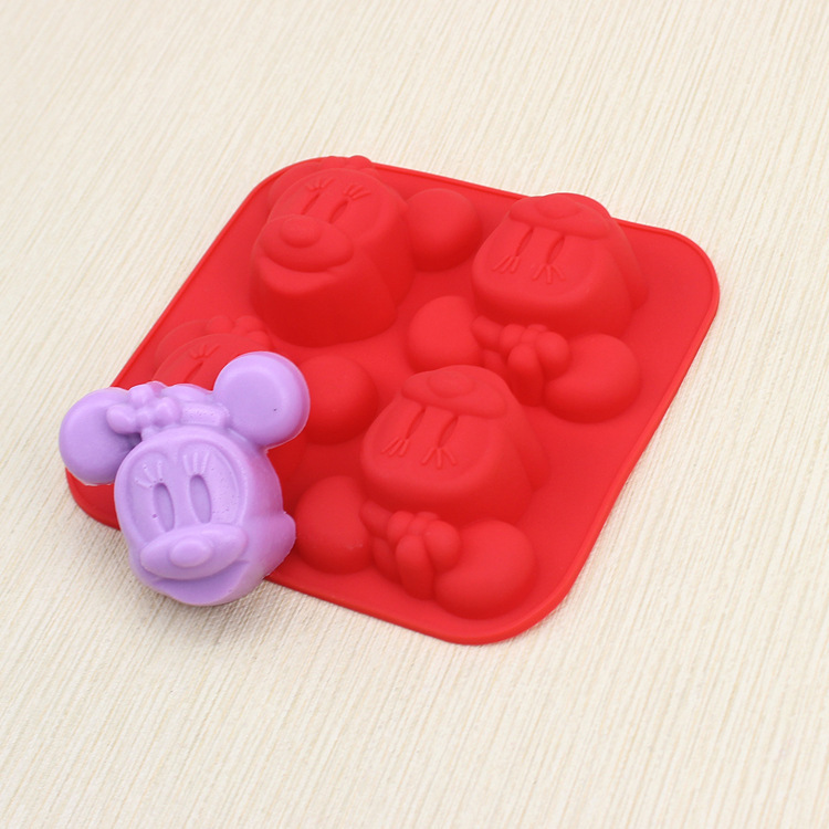 10pcs/lot Silicone 4C Minnie MOUSE Cake Chocolate Soap Pudding Jelly Candy Ice Cookie Biscuit Mold Mould Pan Bakeware Wholesales(China (Mainland))