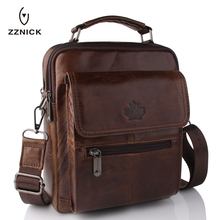 Buy New Fashion Men Genuine Leather Messenger Bag Male Oil Wax Leather Cross body Shoulder Bag First Layer Cowhide Men Bag Briefcase for $26.94 in AliExpress store