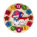 Wooden Blocks 12 Number Colorful Digital Geometry Clock Baby Educational Bricks Toy Baby Kids Children Toys