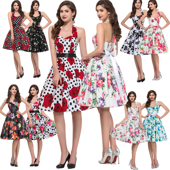 22 Styles 2015 Audrey Hepburn stylish Pin up 50s 60s Vintage Dancing Swing Dress Rockabilly Women NEW Fashion Dresses Hot CL6075(China (Mainland))