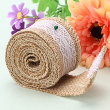 Buy 2M Roll Linen Lace Handmade Natural Vintage Jute Hessian Burlap Ribbon Rustic Weddings Belt Strap Floristry Wholesale 200CM Long for $1.45 in AliExpress store