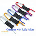 2X Durable Carabiner Clip Water Bottle Holder Camping Hiking Snap Hook Key Chain