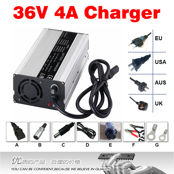 36V 4A Charger Hight Power Lithium Battery Smart Charger, Use of switching power supply technology, Input 90-264V Output 42V 4A(China (Mainland))
