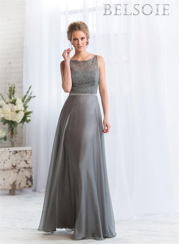 Popular silver grey bridesmaid dresses buy cheap silver for Silver wedding dresses for bridesmaids