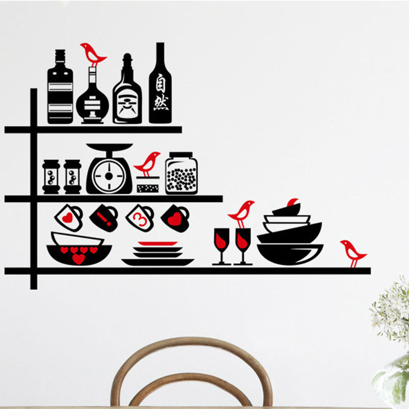 1pcs kitchenware kitchen wall stickers dining room poster ho