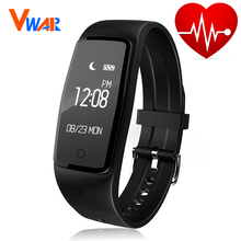 Buy Vwar S1 smart band Heart Rate Monitor IP67 Smartband Fitness Tracker Pedometer whatsapp facebook Wristband For IOS Android for $24.98 in AliExpress store
