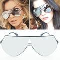 2017 New Goggle Mirror Brand Sunglasses Women Fashion Sunglasses Retro Brand Designer Integral Lenses Punk Sun
