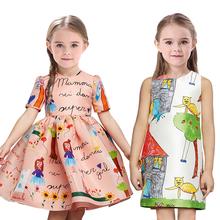Promotion! girls dress new 2016 kids clothes girl vestidos casual dress designer brand children clothing princess summer dress(China (Mainland))