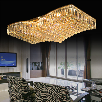 new 2013 Living room lights dapeng wings of a crystal lamp living room ceiling light gold rectangle crystal lamps free shipping(China (Mainland))