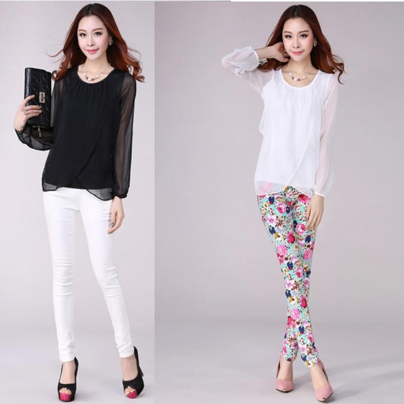 New Fashion 2015 Plus Size Shirt Women Clothing Elegant ...