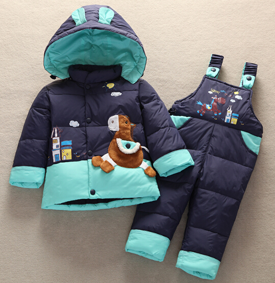 2016 Baby animal Horse Jacket jumpsuit Suit Kids Toddler Quality Coat+Pants Sets Boys Girls Children Winter Clothing - Ibaymall pregnant baby clothing store