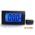 AC 220V 0 100A Digital Ammeter Current Ampere Panel Tester With 3 Digit Blue LCD Display