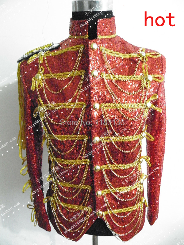 2015 singer dancer jacket Hot-selling fashion royal male female costume male fashion royal for party performance show nightclub(China (Mainland))