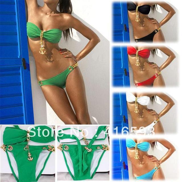 2013 New Free shipping Hot Women's Sexy Padded Boho Fringe Top Strapless Dolly Bikini Swimwear, Lady's Swimsuite
