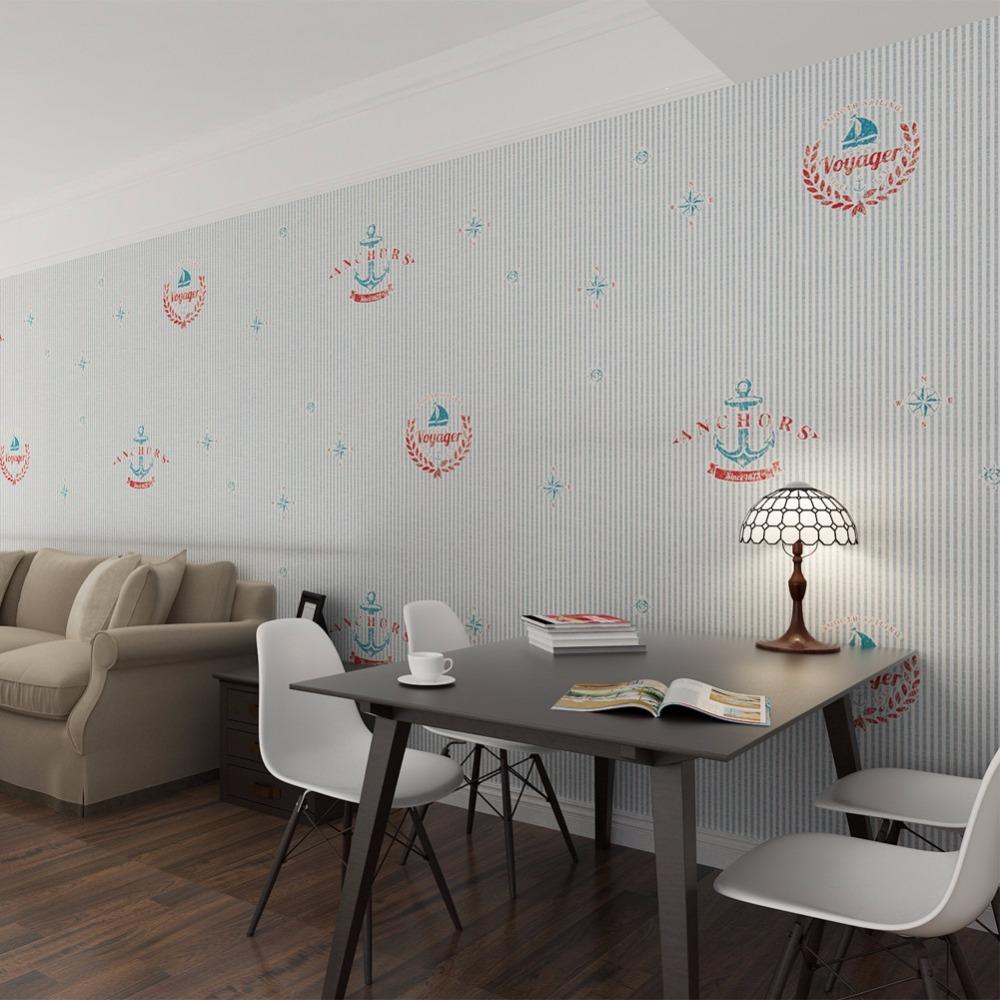 2016 papel de parede navy blue striped wallpaper anchor for Wallpaper for living room 2016