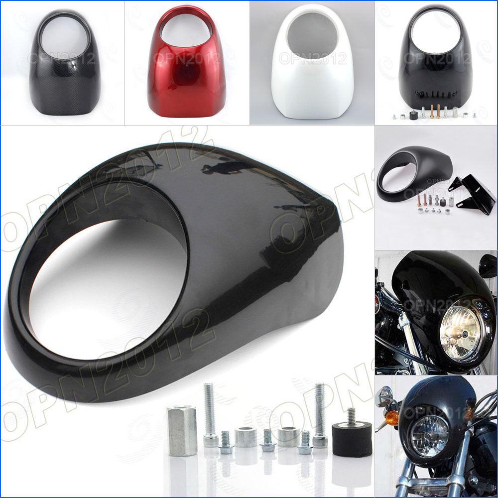 Motorcycle Headlight Fairing Visor Cool Mask Front Cowl Fork Mount Bezel For Harley Sportster Dyna FX XL 883 <br><br>Aliexpress