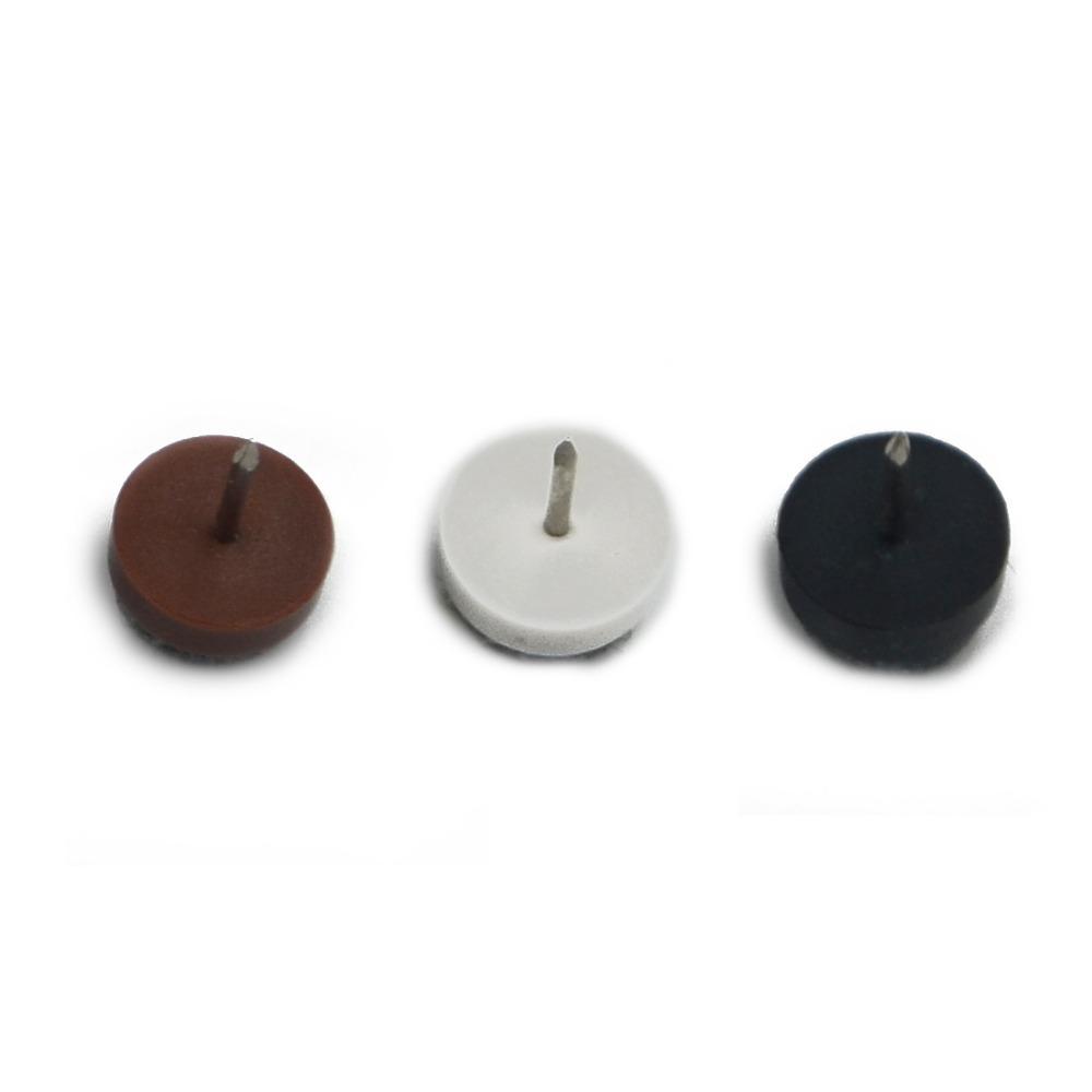 Гаджет  12pcs 20mm Mix 3 Colors Chair Round Felt Glide Nail Soft Bottom Furniture Feet Pad Nail Plastic Hardware None Мебель