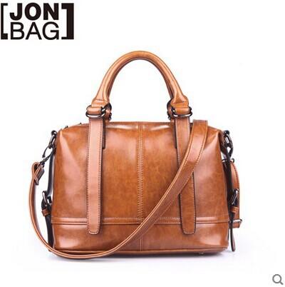 2014 Fashion Handbag Vintage Genuine Leather Handbags Brown Bag Womens Bags Messenger - Shanghai Sharon Store store
