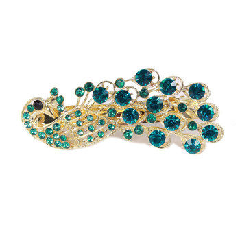 Sushine store jewelry wholesale E9102 peacock hairpin clip hairpin hair pin rhinestone ( $10 free shipping )F010