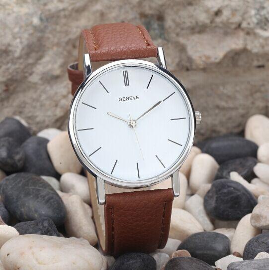 Elegant 2015 New Arrival Casual Women Quartz Watch Luxury Brand High Quality Geneva Wristwatch Fashi