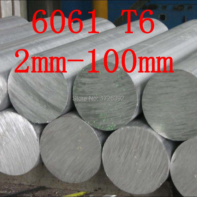 2mm 100mm Diameter 6061 T6 AL Aluminium bar Round CHOOSE DIAMETER Model engineer