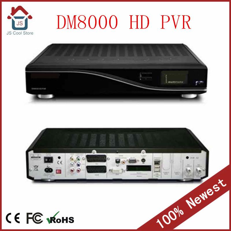 100% original DM8000 HD PVR Satellite Receiver ,dm8000 hd Twin DVB-S2 tuner optional DVB-C or DVB-T Satellite TV Receiver(China (Mainland))